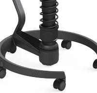 Rollenfußgestell schwarz mit Lehne